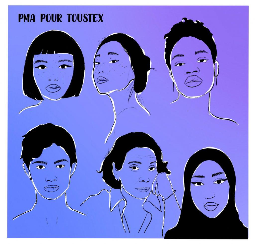six visages de PMA pour toustex