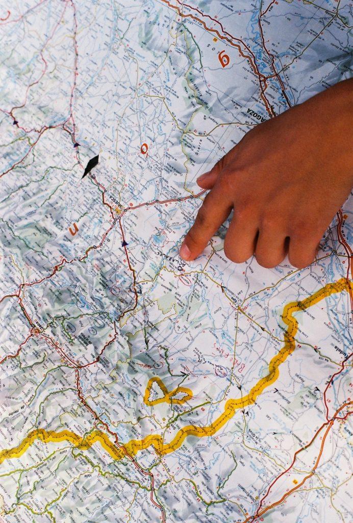 Carte et destination de voyage